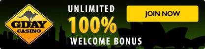G'Day online pokies casino for Australians