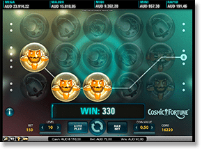 Play Cosmic Fortune video slots online