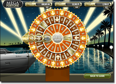 Play Mega Fortune progressive jackpot pokies