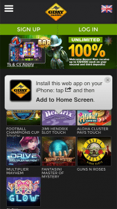 G'day Casino mobile