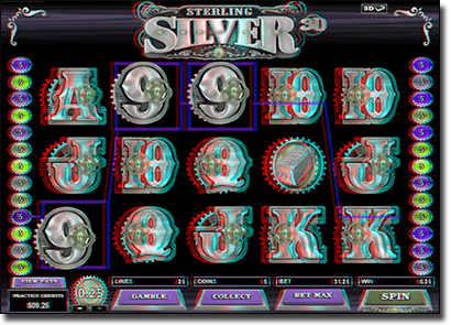 Play online 3D Sterling Silver slots