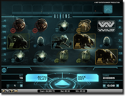 Aliens online slots by Net Ent
