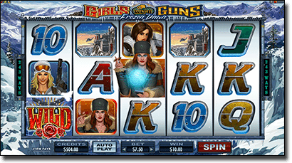 Play Girls with Guns online pokies