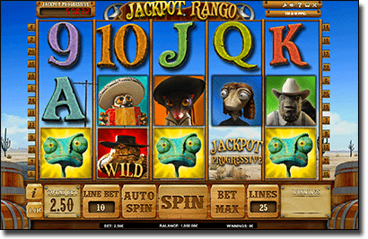 Rango progressive jackpot pokies