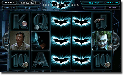 The Dark Knight progressive pokies by Microgaming