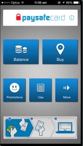 Paysafecard mobile app