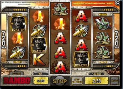 Play Rambo online pokies