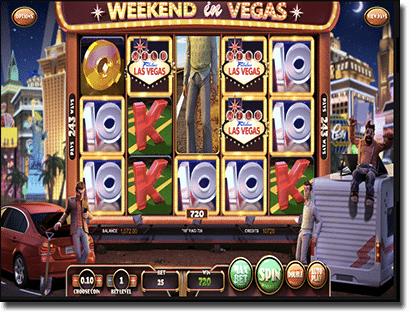 Play Weekend in Vegas 3D online pokies by BetSoft