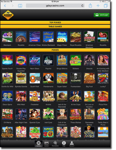 G'Day Casino on iPad tablets