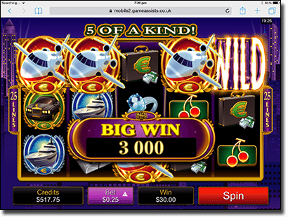 High Society online pokies on iPad