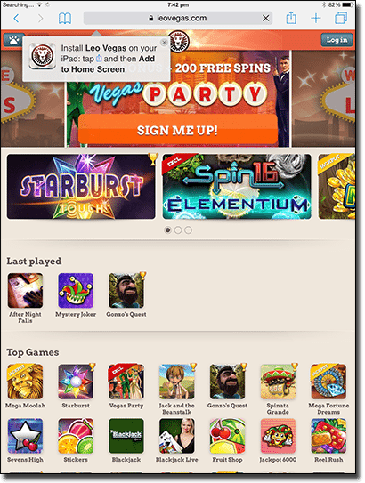 Mobile pokies casinos on iPad tablets