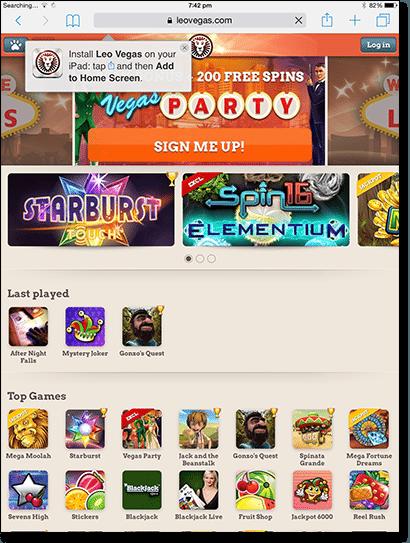Mobile pokies casinos on iPad tablets