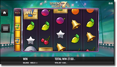 Sevens High video slots on iPhone