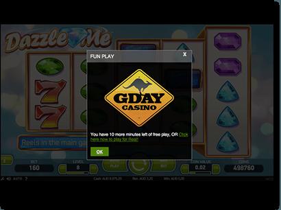 Free play online pokies