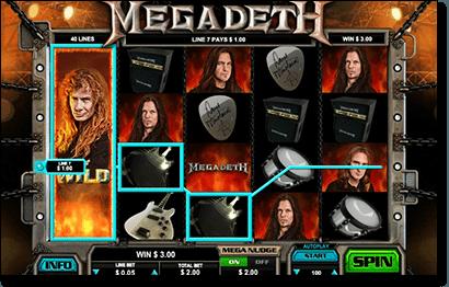 Megadeth online pokies game