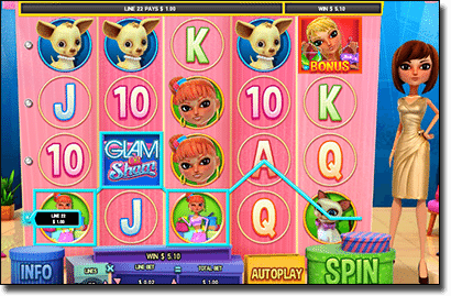 Glam or Sham online mobile pokies