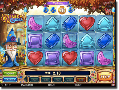 Wizard of Gems pokies by Play'n Go