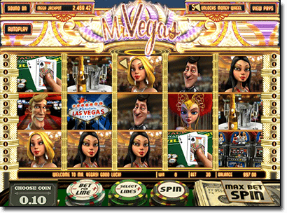 Mr Vegas 3D animated online pokies