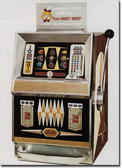 Land-based pokies machines history