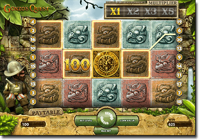 Gonzo's Quest pokies by Net Entertainment