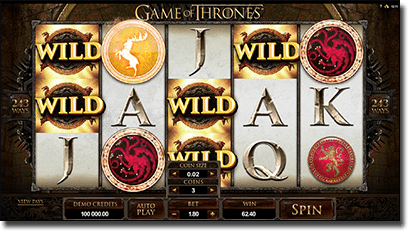 Game of Thrones online pokies