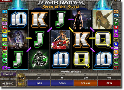 Tomb Raider Microgaming real money slots