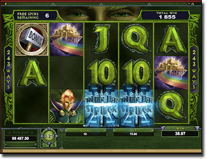 Thunderstruck II online pokies - bonus feature