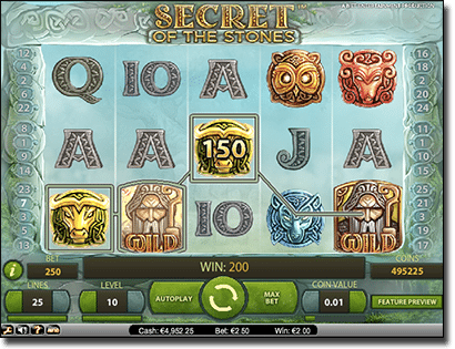 Secret of the Stones NetEnt online pokies