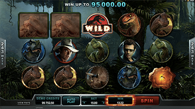 Jurassic Park pokies by Microgaming