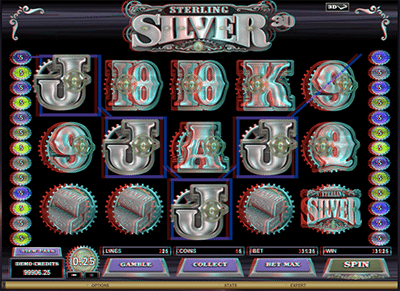 Sterling Silver 3D pokies by Microgaming