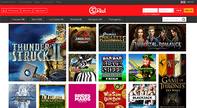 32Red.com - Desktop instant play Microgaming slots catalogue