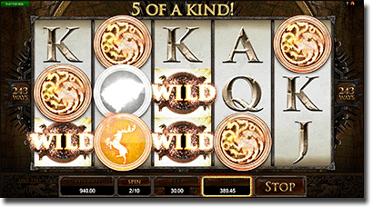 Game of Thrones online no download pokies at All Slots Casino