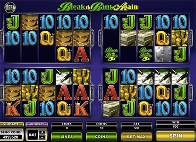 Break da Bank Again - MegaSpin online pokies game by Microgaming