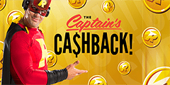 Captain Rizk Cashback promotion