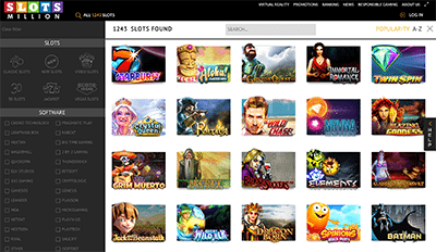 Slots Million online casino pokies catalogue