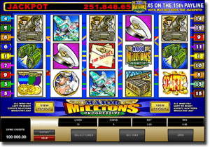 Major Millions 5-reel progressive jackpot pokies