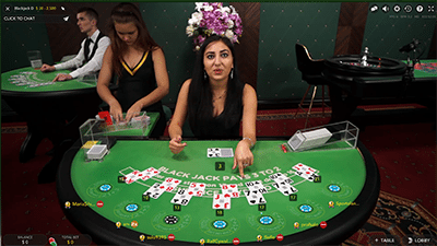 Live dealer blackjack