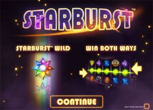 Starburst NetEnt symbols and features