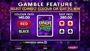 Karaoke Party gamble feature